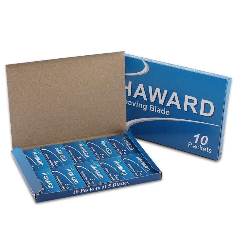 HAWARD Razor 100/300/500 Pcs Classic Double Edge Safety Razor Blades For Shaving & Hair Removal Straight Razor Titanium Blades