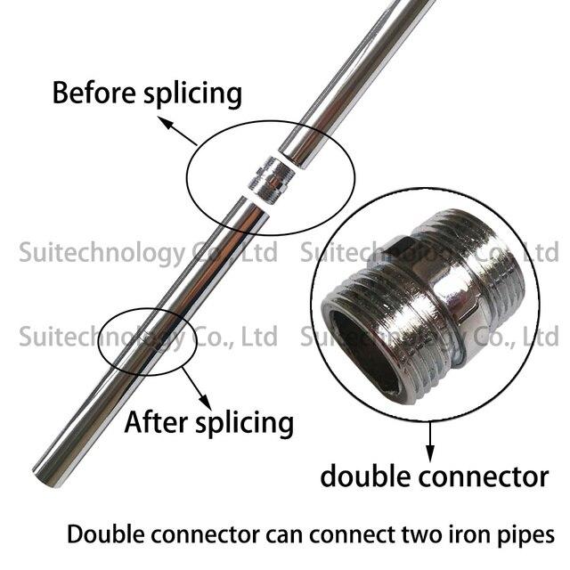 Accessoires déclairage à longue tige pour le bricolage, tube droit en fer diamètre 16mm, tube intérieur, M10 tige de connexion, Clip lumineux de bureau