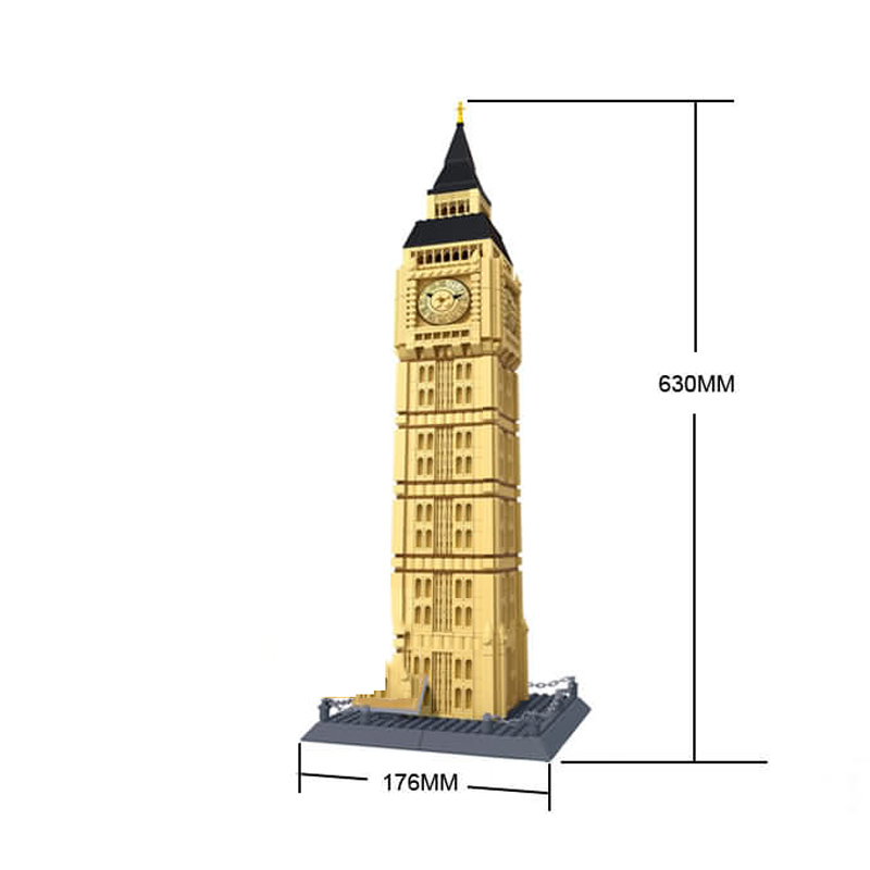 Stavanger 1642pcs Big Ben Building Blocks Assembled Three-dimensional Building Models Child Adult Toys Compatible special preschool children tong yizhi world map flags inserted wooden jigsaw puzzle assembled three dimensional toys no