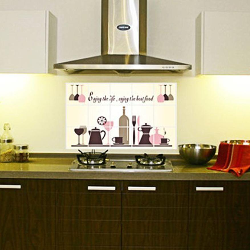 nueva diy cocina patrn de vinilo removible decal decoracin etiqueta de la pared del papel pintado