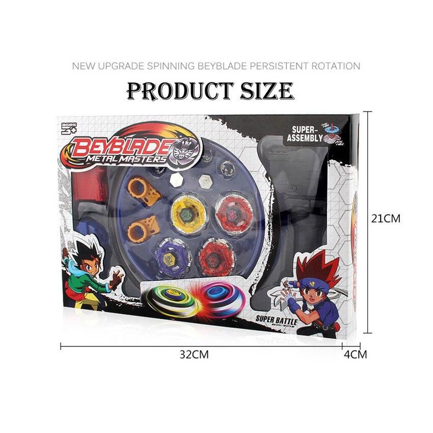 4pcs/set Beyblade arena stadium Metal Fusion 4D Battle Metal Top Fury Masters launcher grip children christmas toy