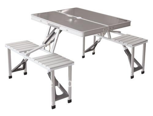 delux picnic table with aluminium chair set