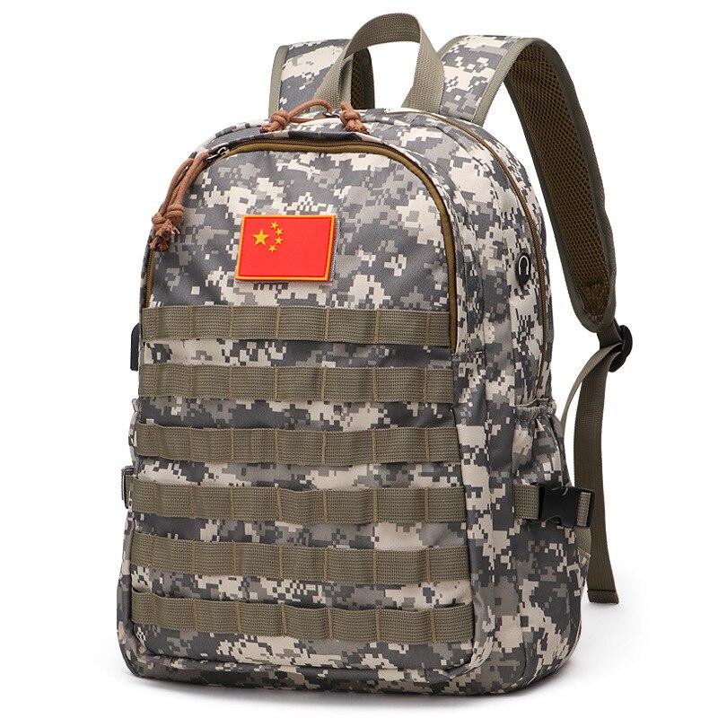 HWJF sacs de plein air Camping sacs à dos 3D camouflage tactique sac à dos en plein air militaire sac à dos pour hommes femmes randonnée escalade