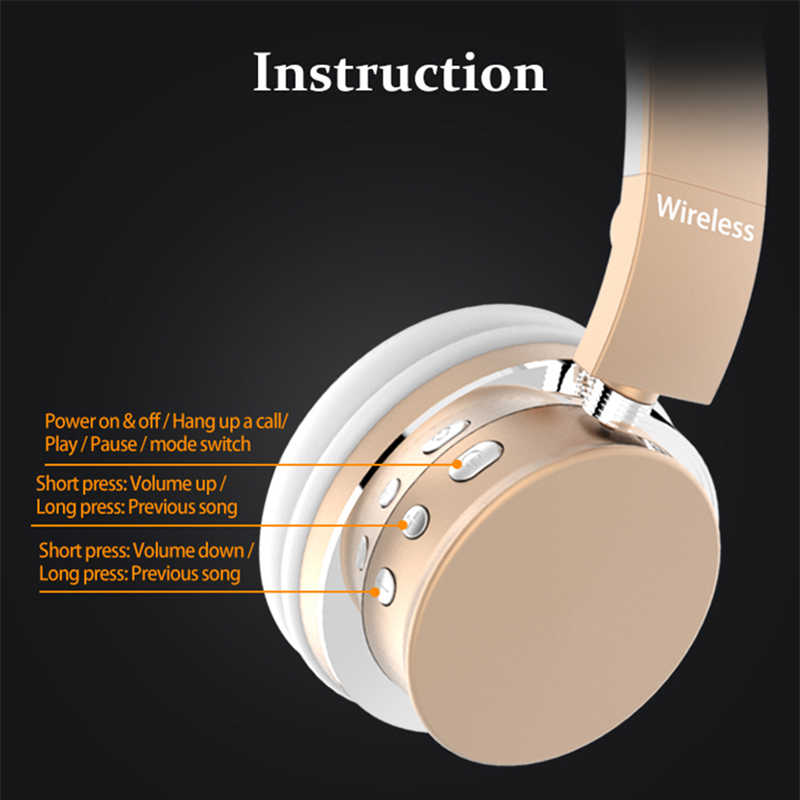 M9 słuchawki basowe zestaw słuchawkowy do gier 3.5mm hifi składany przenośne słuchawki AUX