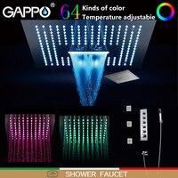 GAPPO смеситель для душа s душ со светодиодной подсветкой наборы для ухода за кожей Водопад Ванная комната смеситель настенный монтаж смесите