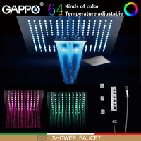 GAPPO Shower Faucets LED rainfall shower sets waterfall bathroom mixer wall mounted shower faucet mixer taps