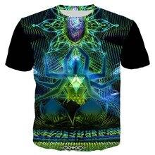 YX Girl 2019 Summer Casual T shirt Men 3d Print Psychedelic Shakti T-shirt Short Sleeve T-shirts Tees Tops XS-7XL Dropshipping