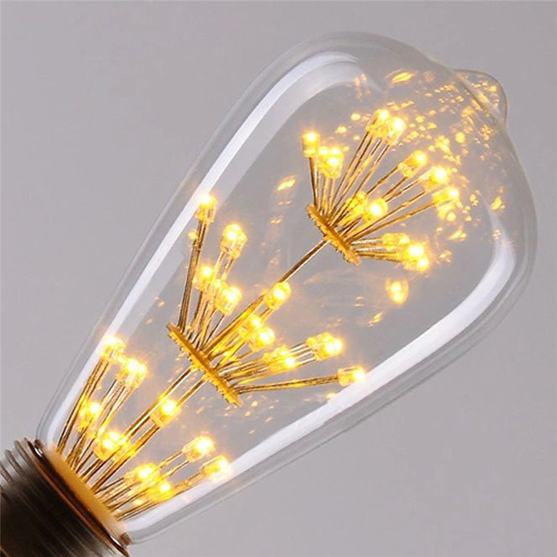 3W LED Light Bulb Squirrel Cage Vintage glass Edison Style E27 220V LED Bulb led Filament lamp warm white for Home Decoration high brightness 1pcs led edison bulb indoor led light clear glass ac220 230v e27 2w 4w 6w 8w led filament bulb white warm white