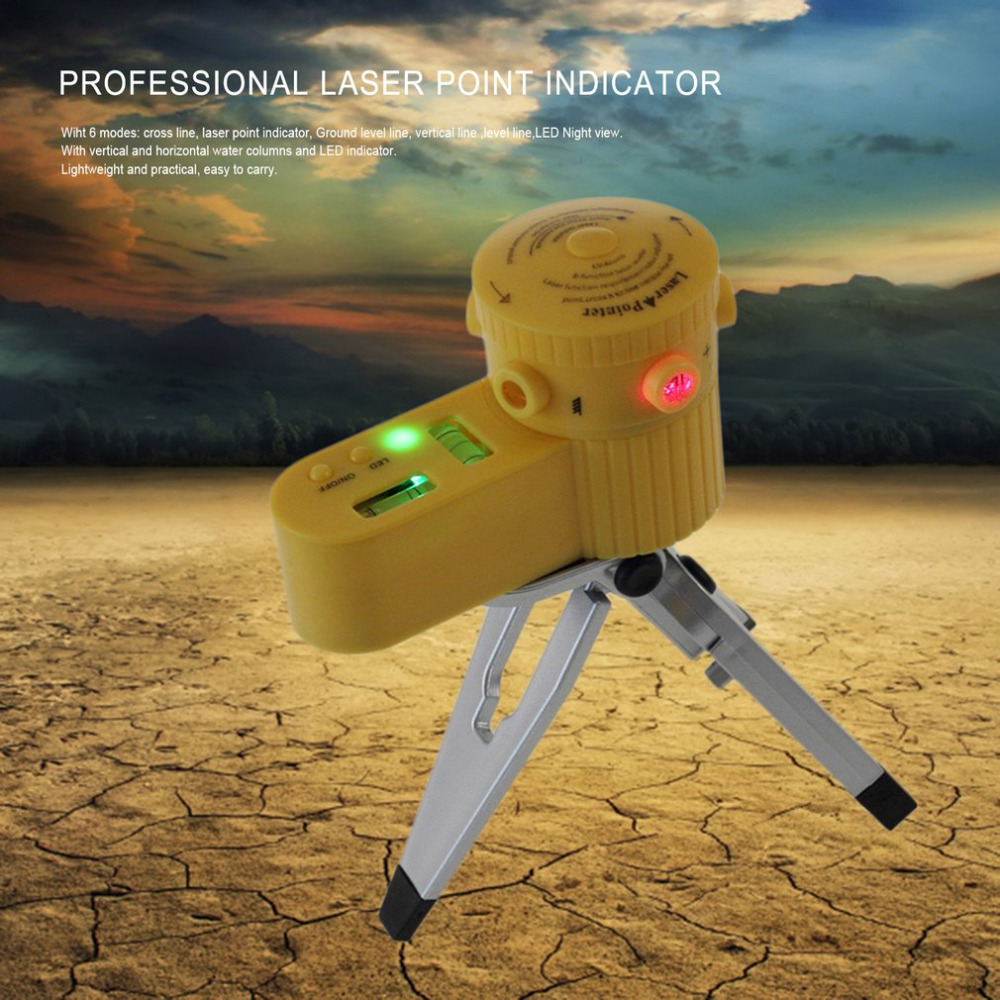 Laser Point Indicator Level Leveler Vertical Cross Horizontal Line Tool With Tripod LED Night View Function Laser Levels