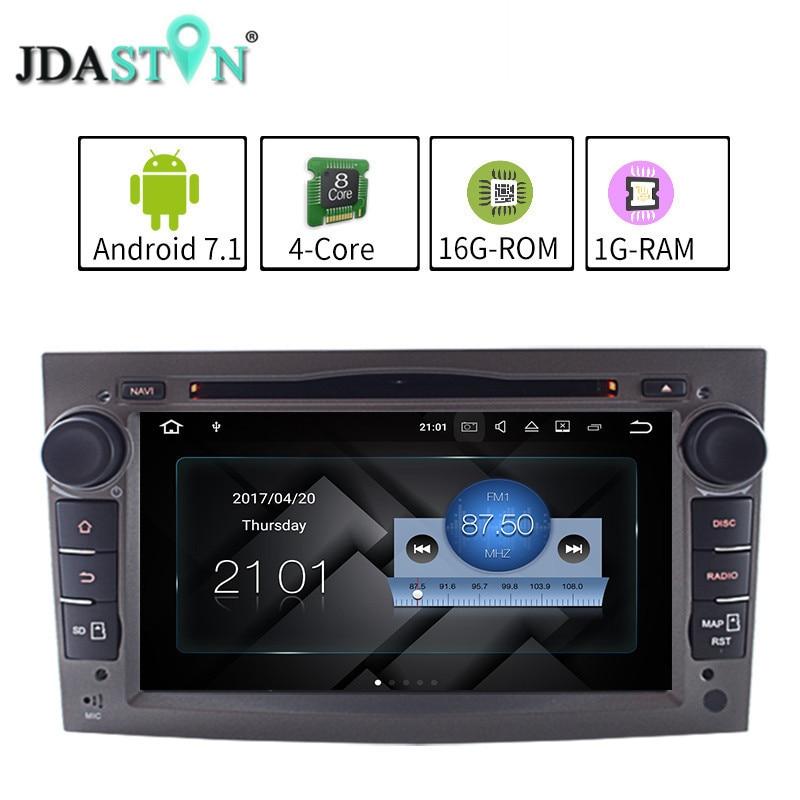 JDASTON 2G 16G ANDROID 7 1 1 Car DVD For Opel Astra Vectra Antara Meriva Corsa