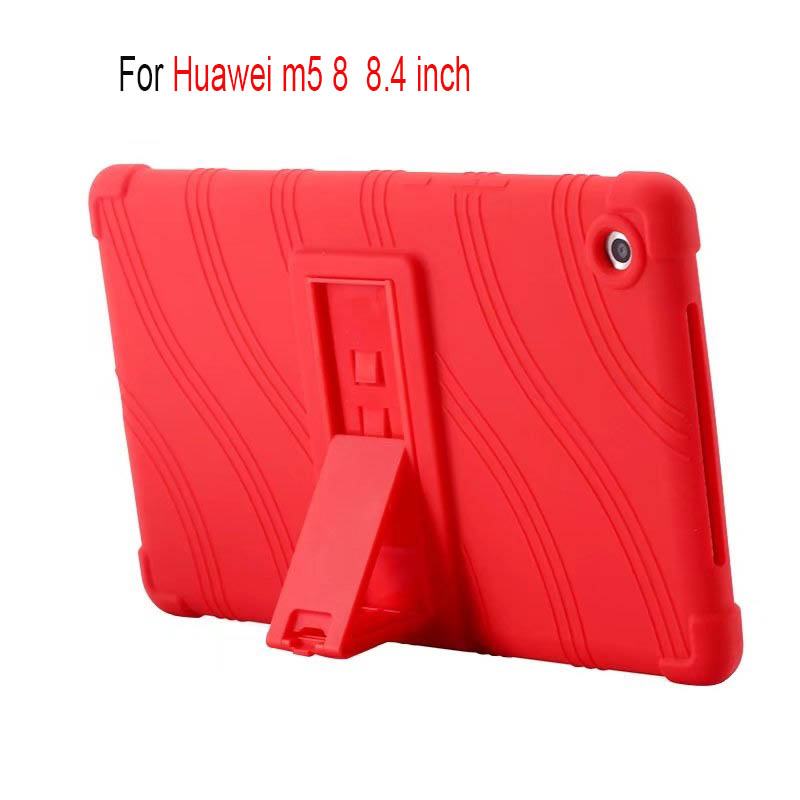 For Huawei MediaPad M5 8.0 8.4 inch case Soft Silicone Back Cover for Huawei MediaPad M5 8.4 '' Tablet stand case Cover