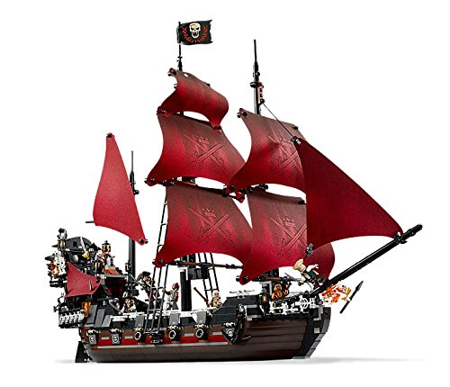 Lepin 16009 1151Pcs Pirates Of The Caribbean Queen Anne's Reveage Model Building Kit Blocks Brick Toy Compatible 4195 kazi 608pcs pirates armada flagship building blocks brinquedos caribbean warship sets the black pearl compatible with bricks