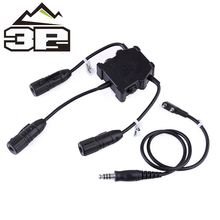 Modeling Accesories Tactical Headset Airsoft Military Double-Jianwu/baofeng PTT R.3.U