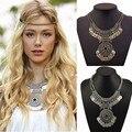2017 Nuevas Llegadas de Bohemia Vintage Maxi Collar Collier Femme Mujeres Borla de La Manera de La Moneda Collar Llamativo joyería Étnica