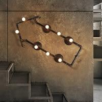 Светодиодный настенный светильник Лофт Стиль промышленного ретро гладить Гостиная коридор креативная Подвесная лампа Декор Спальня свети