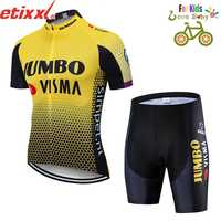 2019 new kids cycling jersey set clothing bike wear 3d gel pad shorts Children Breathable cycling clothing ropa ciclismo maillot