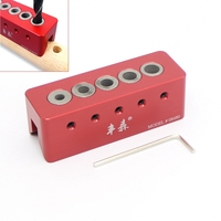 90 Degree Woodworking Drill Straight Angle Guide Bit Doweling Jig Hole Depth Stop Collars
