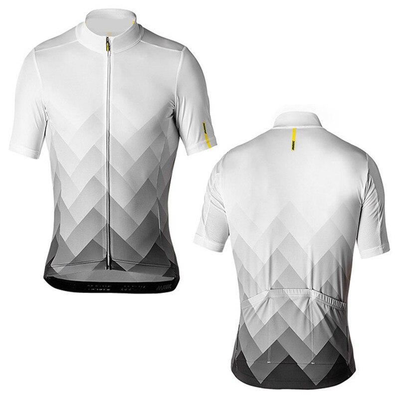 Men Summer font b Mavic b font Cycling Jersey 2018 font b Pro b font Team