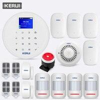 KERUI 433 МГц W17 Беспроводной GSM Wi Fi сигнал Системы вибрации Сенсор огонь детектор внутренней безопасности удаленного Управление вызова нажмите