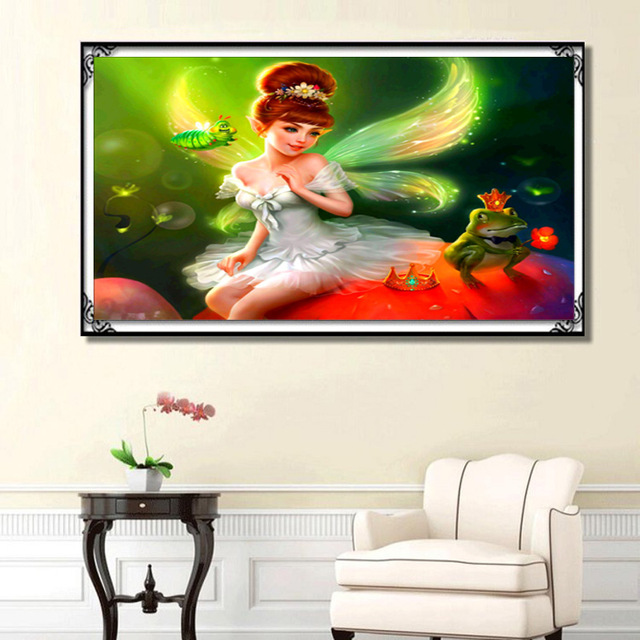 Diamond embroidery portrait moon beauty 5d diy diamond painting girl angel round  mosaic crystal cross stitch kits