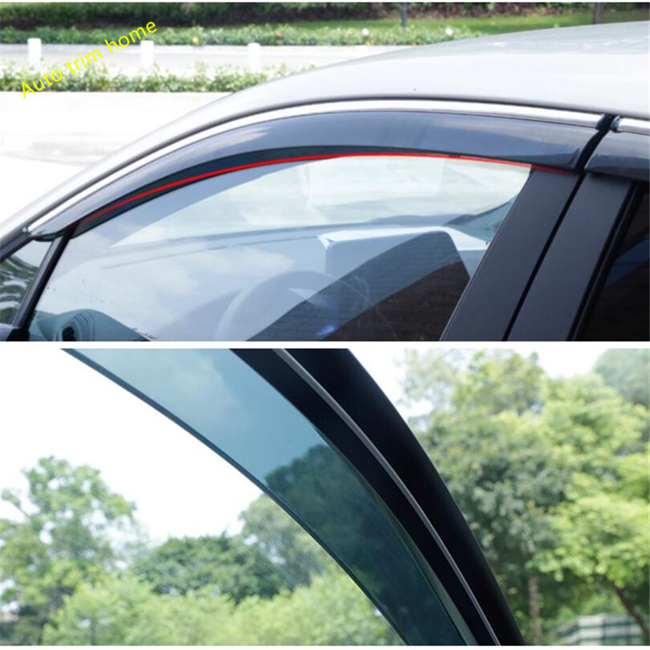 Lapetus Door Window Wind Visor Moulding Awnings Shield Rain Sun Wind Guard Vent Shade Cover Kit For Toyota C HR CHR 2016   2020|Chromium Styling| |  - title=