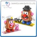 2 unids/lote Mini Qute LOZ 2 estilos americanos Toy story sr . sra. de la patata bloque de construcción de plástico de dibujos animados modelo educativo del juguete