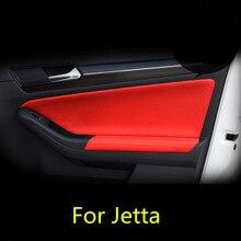 8 шт. микрофибры кожаная внутренняя панель двери+ подлокотника для Volkswagen Jetta 2012, 13, 14, 15, 16, AAB063