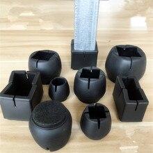 Gorros de pierna de silla de silicona resistentes al desgaste 12 Uds. Fundas de mesa calcetines muebles pies almohadillas protectores de suelo copas antideslizantes de fondo redondo