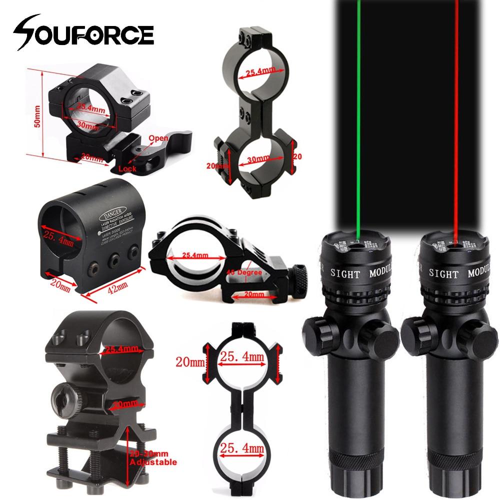 Merah/Hijau Laser Remote Switch Suit 25.4/30 Mm Ring 20 Mm Rail QD Mount + W /Remote Switch untuk Berburu