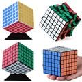 Nueva Venta Etiqueta Suave Velocidad Cubo Mágico Profesional 7 cm Torcedura Puzzle Cubo Mágico Cuadrado Juguetes Educativos Mundo Carrera Discográfica