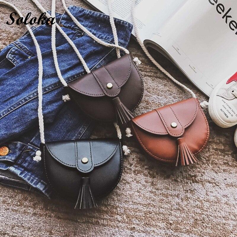Women Messenger Bags Crossbody Designer handbags School Clutch Shoulder Bags Tassel Mini Bag Kids Gifts woman female purse bags