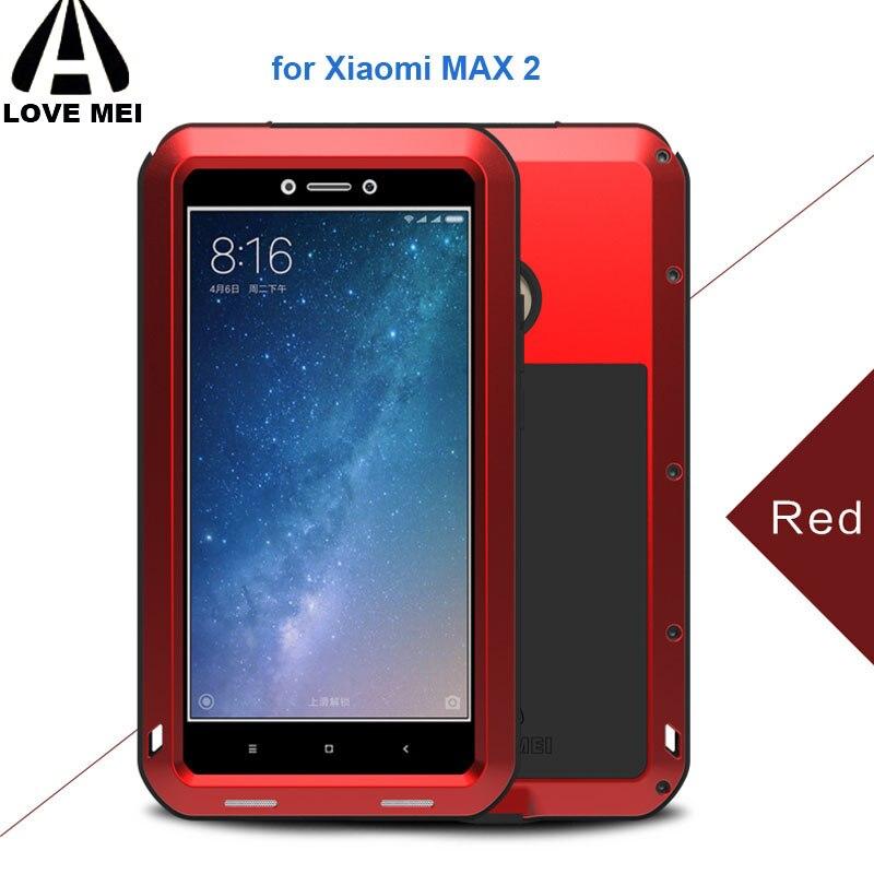 Xiomi Mi Max 2 Cas LOVEMEI Puissant Boîtier Métallique pour Xiaomi Max 2 MiMax2 De Luxe Aluminium Dirt Antichoc Couverture Étanche