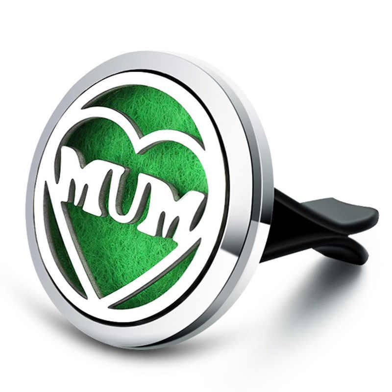 Mom's LOVE Aroma Diffuser สแตนเลส Car Air Freshener น้ำหอม Essential Oil Diffuser Lockets สร้อยคอเครื่องประดับอัญมณีเครื่องประดับ
