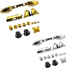 Chrome Plating Full Button Set Dpad RT LT RB LB ABXY Guide ON OFF Buttons For Xbox One Slim S 1 Controller Gamepad Repair