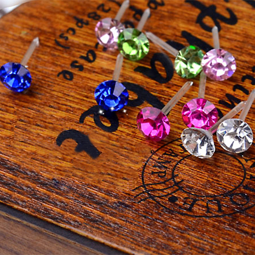 20 Pairs Women's 5mm Clear/Multicolor Crystal Allergy Free Ear Studs Earrings 1NOG