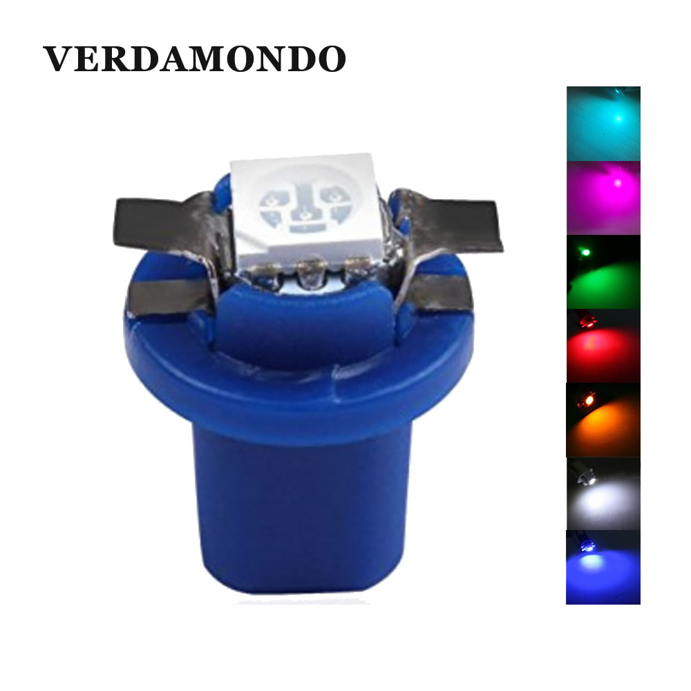 10 PCS B8.5D 5050 509T 1 SMD Led Lamps Car Gauge Speedo Dash Bulb B8.5 LED Dashboard Instrument Wedge Interior Light 12V