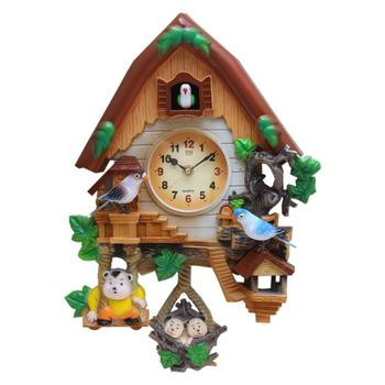 12inch Cartoon clock Quartz Clock Mute Children Wall clock Living room Fashion Clock Hanging Cuckoo Music Clock