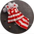 Bibicola criança conjuntos de roupas meninas do bebê verão arco tarja 2 pcs meninas do bebê roupas de verão set crianças suit set treino conjunto