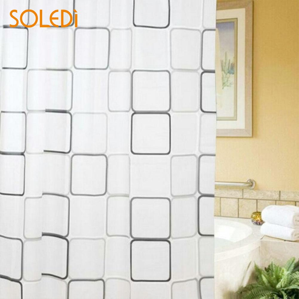 Waterproof Shower Curtain Set with 12 Hooks Polyester Bathroom Home Decoration Curtains Luxurious Theme