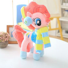 цены Drop Shipping 40 cm Big Size Clothes Accessories Wearable Cartoon Pony Unicorn Stuffed Plush Toys For Children & Fans Gift