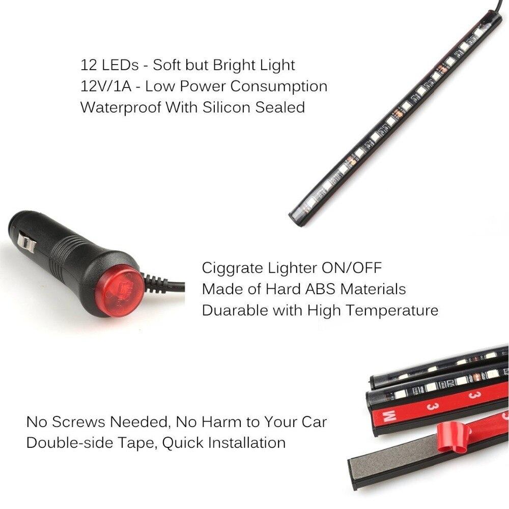 Voiture 48 4 Éclairage Kits De Bande Lampe Intérieur Pcs Sous Led TJ13uFlKc