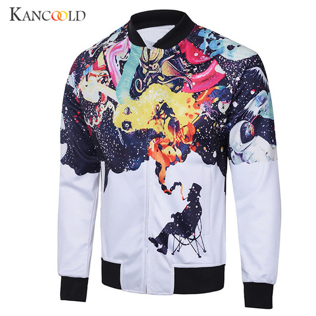 2017 Jacket Men Long Sleeve Coat Autumn Printed Top Trench new Coats men's Jackets O Neck Zipper for male Casual Overcoat sp29a