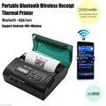 2 ШТ. Мини 80 мм Bluetooth для Беспроводной Портативный Мобильный POS Тепловая Чековый Принтер Для IOS/Android
