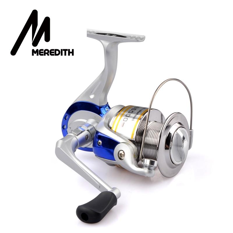 Meredith moulinet de pêche très rentable pour débutant leurre Fisher 1BB Ratio 5.2: 1 pliant Rocker plastique bobine filature bobine