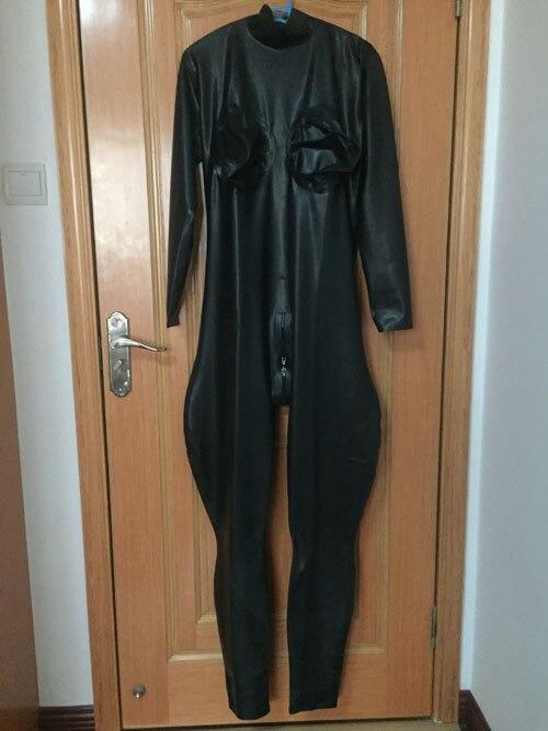 2018 mode homme justaucorps exotiques Costumes Sexy noir fétiche Latex Zentai combinaisons en caoutchouc CD catsuit Zentai pour hommes Latex Costumes