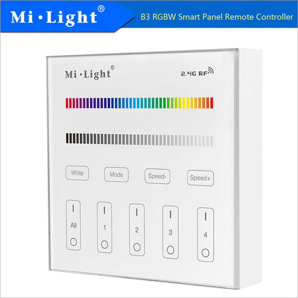 2*aaa Battery Led Controller Milight B3 4-zone Rgb/rgbw Smart Panel Remote Controller 2.4ghz Led Bulb Controller 3v