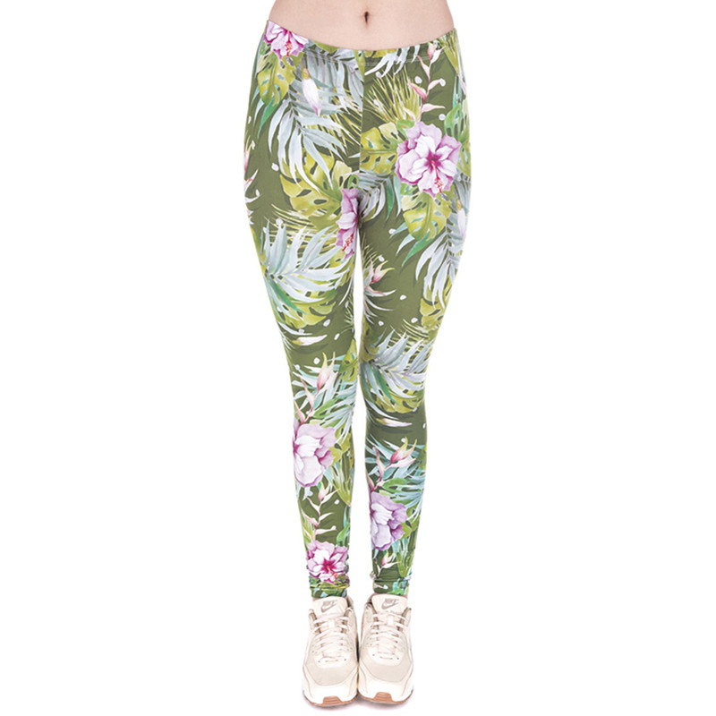 30 Different Patterns of Women 3D Printing Fitness Slim Leggings Fashion Casual Milk Silk Fabric Stretched Pants