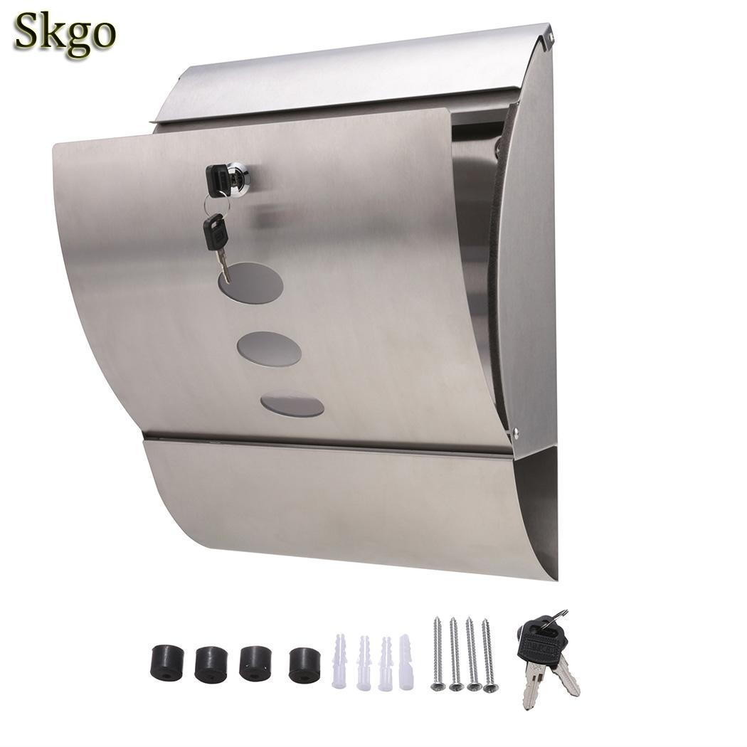 Box Postbox Apartment Keys Garden Wall Mail PCS 4 2 Letterbox Steel Stainless Mounted Outside With Mounting Lockable House ScrewBox Postbox Apartment Keys Garden Wall Mail PCS 4 2 Letterbox Steel Stainless Mounted Outside With Mounting Lockable House Screw