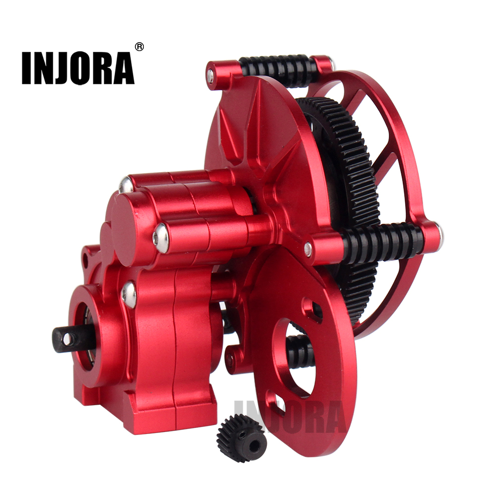 INJORA RC Car SCX10 Metal Transmission Center Gearbox for 1/10 RC Crawler Axial SCX10 1pc black 1 10 rc crawler scx10 metal aluminum transmission center gearbox for 1 10 axial scx10 gear box