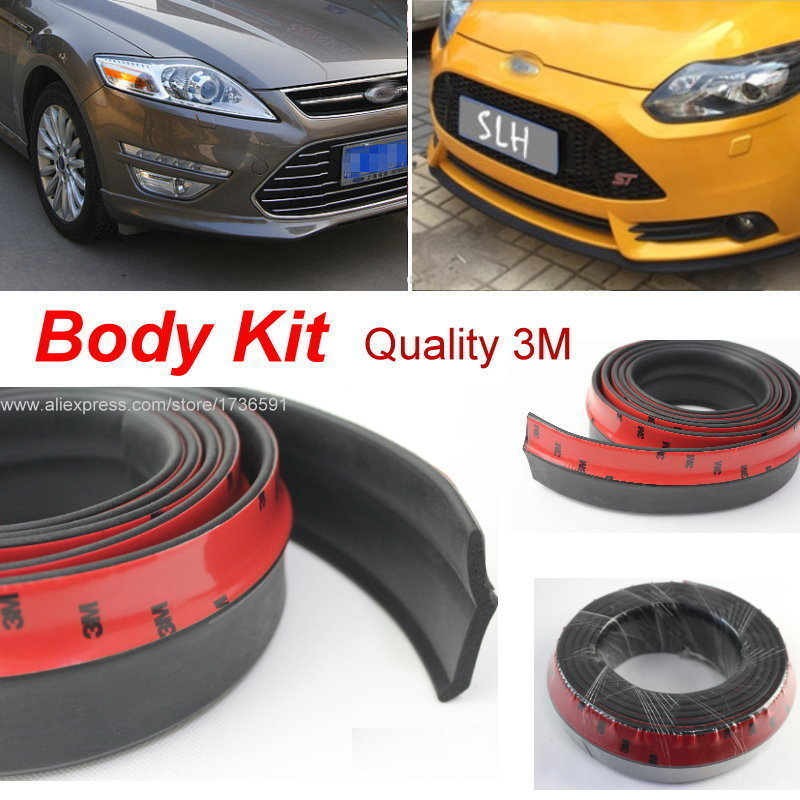 For Ford Ka / Sport Ka / Car Bumper Lips / Spoiler For Car Tuning / Body Kit Strip / Front Tapes / Body Chassis Side Protection